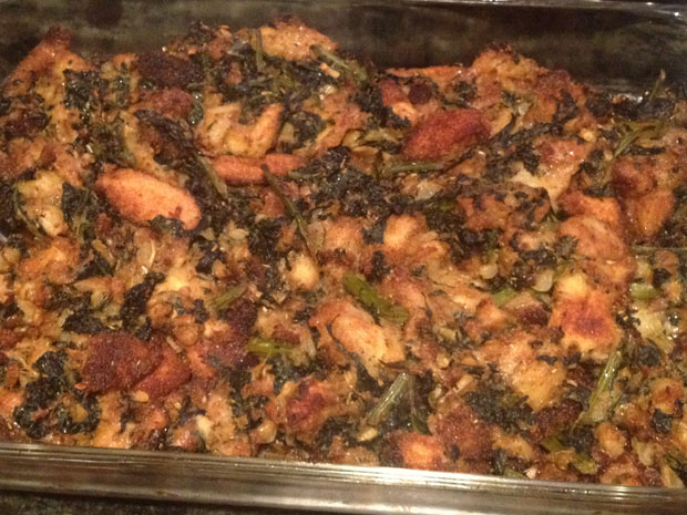 Thanksgiving 2012, kale stuffing